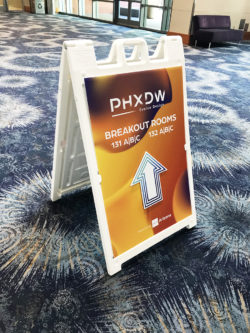 PHXDW 2019 Event Directional A Frame Sandwich Board Sign