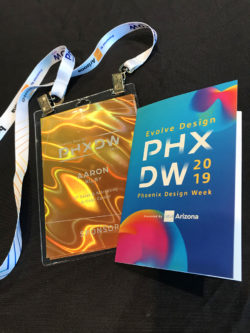 PHXDW 2019 Evolve Design Conference Badge Booklet