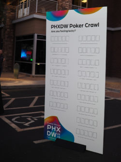 PHXDW 2019 Poker Crawl Sign Empty