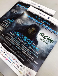 Alice Cooper Christmas Pudding Event Marketing Material
