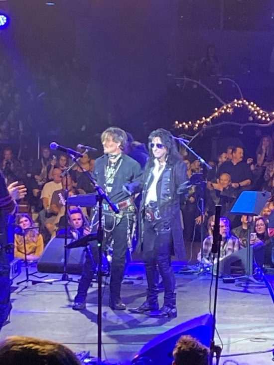 Alice Cooper Christmas Pudding Fundraiser with Johnny Depp c