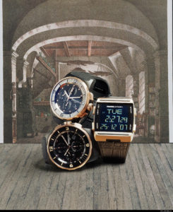 3 styles of watches shown after color correction is made