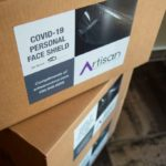 Scottsdale Printer Artisan Colour Boxes of Face Shields Stacked 2