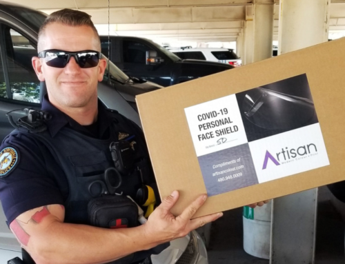 Scottsdale Printer Manufactures and Donates Protective Face Shields to Emergency Personnel to Prevent COVID-19 Transmission