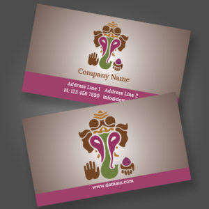 print on demand business card sample for artisan colour