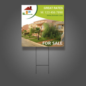 print on demand examaple of real estate yard sign artisan colour