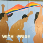 Mural for Todd Synder at the Liquor Store Pride Week