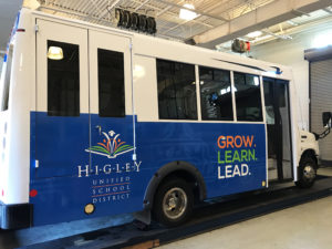 Higher Education Marketing vehicle wrap for college