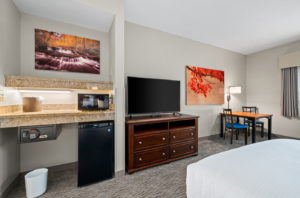 Fine Art Printing Services - hotel room with two large pictures