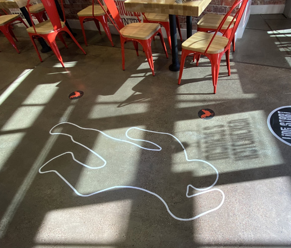 Monroe's Hot Chicken Floor graphics by Artisan Colour