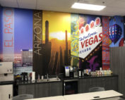 Allied Refreshment Wall after Corporate wall graphics installed by Artisan Colour web