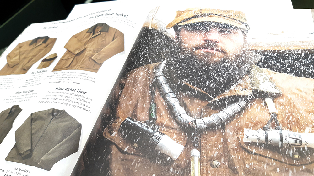 Filson uncoated paper catalog with Artisans expert color separation