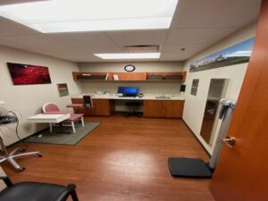 Michigan Reproductive Medicine 2 images in treatment room with pano