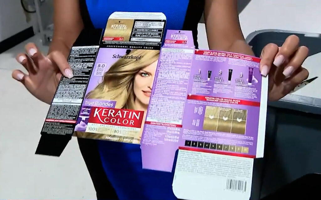 Haircolor Box Product Pacakge Printing with Intec FB8000PRO