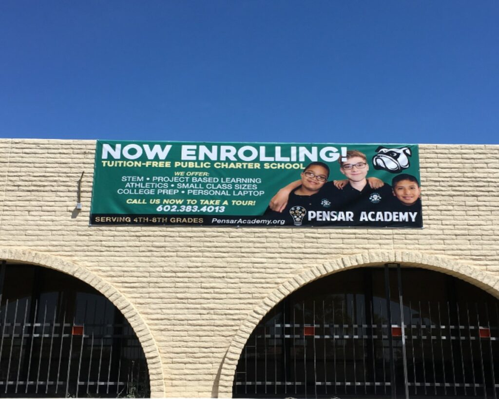 outside outdoor banner