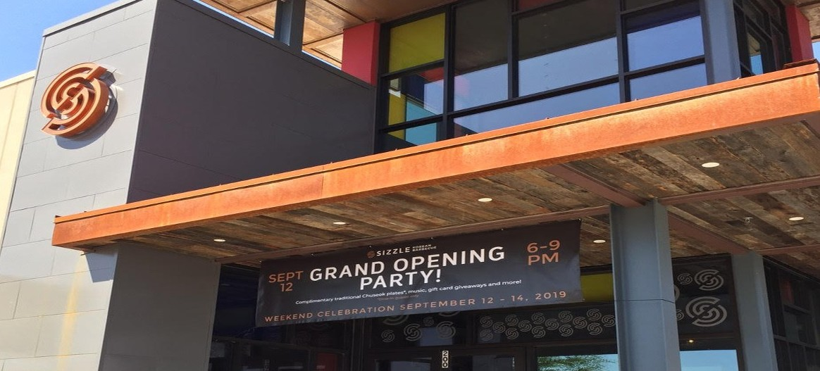Sizzle Restaurant Grand Opening Outdoor Banner